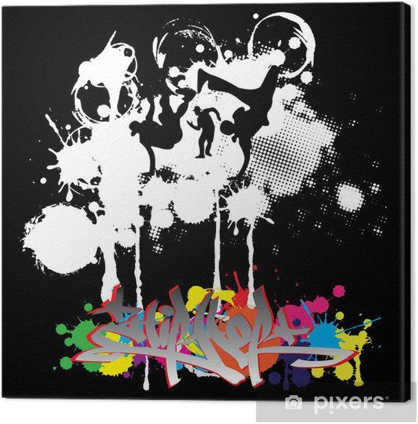 Hip-hop dancers silhouettes Canvas Print - Art and Creation