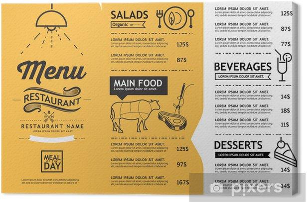 Hipster And Vintage Art Restaurant Menu Design Template Canvas