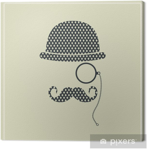 Hipster man. Canvas Print - PI-31