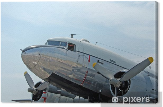 historic dc-3 airplane Canvas Print - Themes