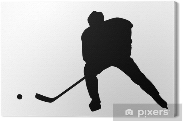 Hockey Player Silhouette (with clipping path) Canvas Print - Wall decals