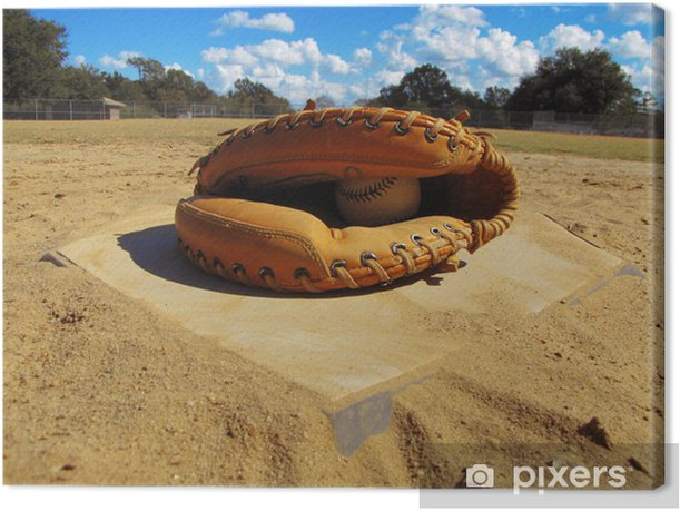 Home Plate Canvas Print - Outdoor Sports