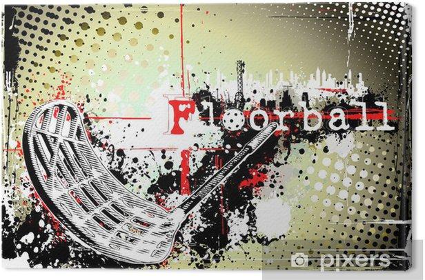 horizontal dirty floorball poster Canvas Print -
