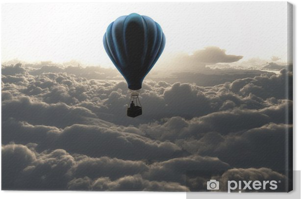 Hot air balloon in the sky Canvas Print - Styles