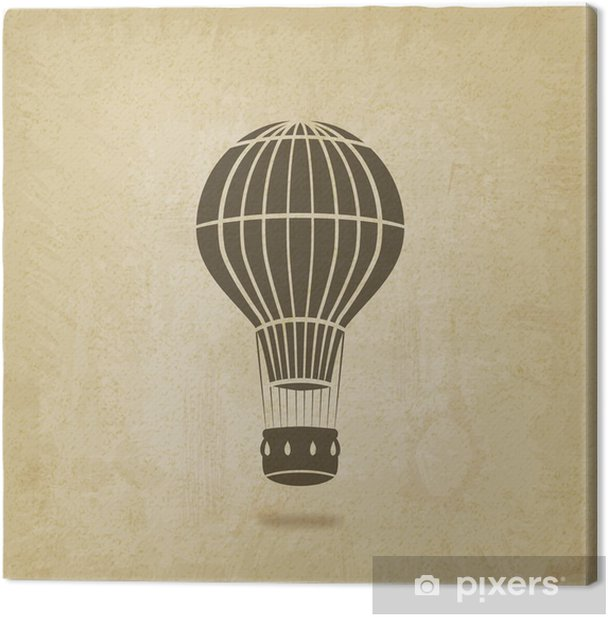 hot air balloon old background Canvas Print - Air