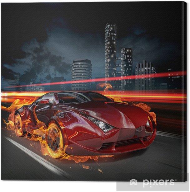 Hot car Canvas Print -