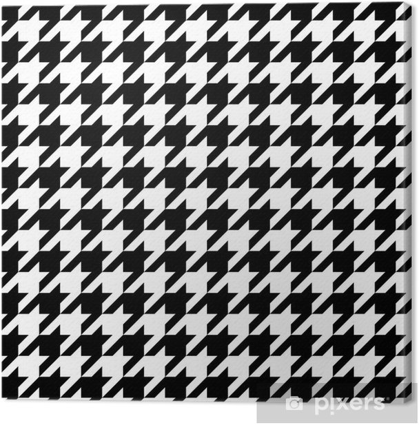 Houndstooth Pattern Canvas Print - Styles