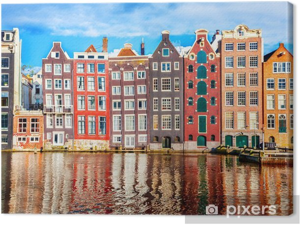 Houses in Amsterdam Canvas Print - Travel
