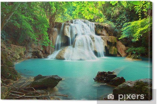 Huay mae kamin waterfall Canvas Print - Themes