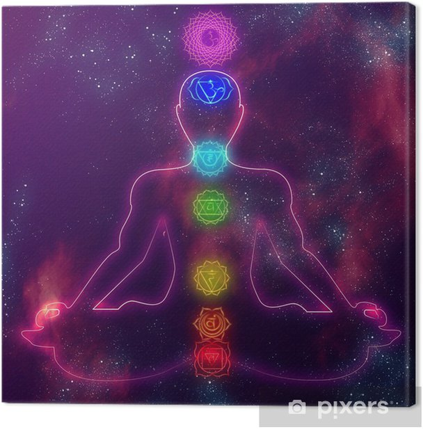Human chakra system Canvas Print - iStaging