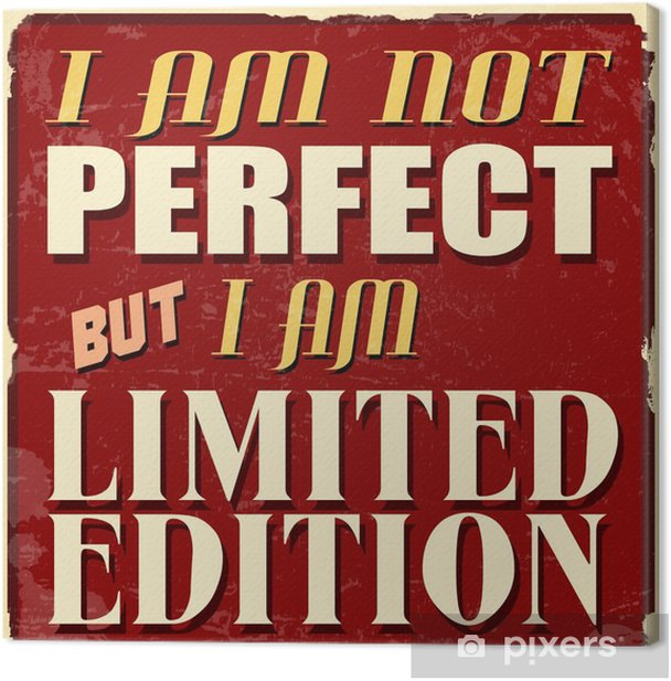I am not perfect but I am limited edition poster Canvas Print - Themes