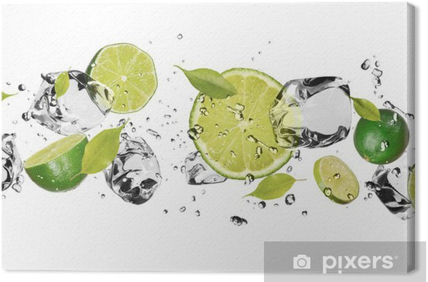 Ice fruit on white background Canvas Print - iStaging