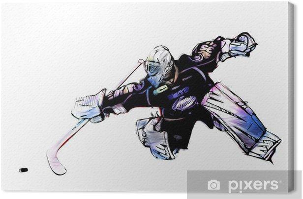 ice hockey goalkeeper Canvas Print - Wall decals