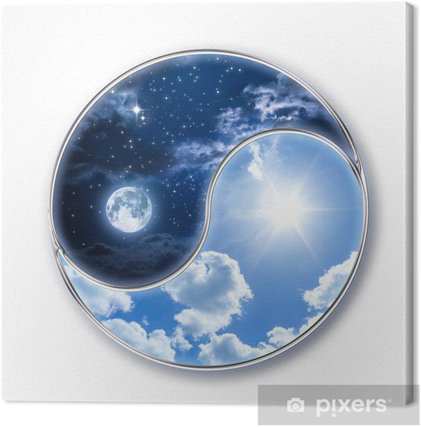 icon tao - moon and sun Canvas Print - Wall decals