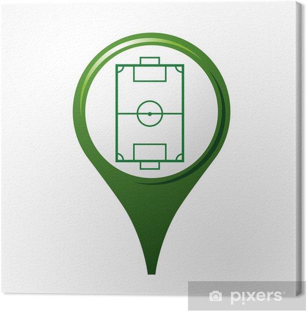 icône, symbole, logo, football Canvas Print - Sales