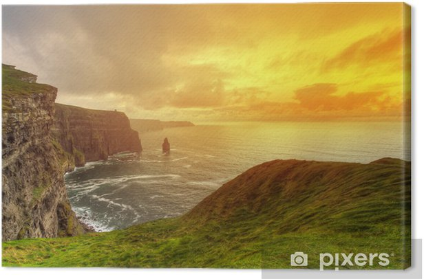Idyllic Cliffs in Ireland Canvas Print - Themes