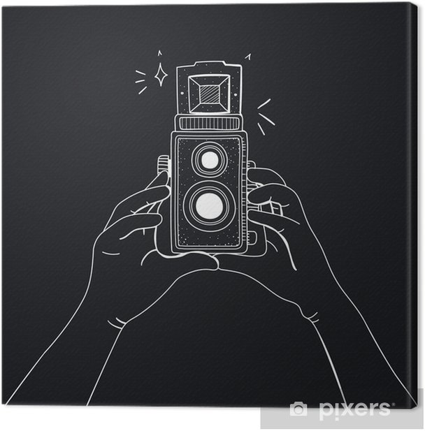 Illustration of camera Canvas Print - Hobbies and Leisure