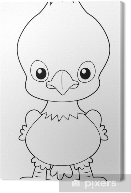 illustration of Cartoon eagle outline Canvas Print