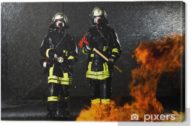 Im Feuer Canvas Print - Professions