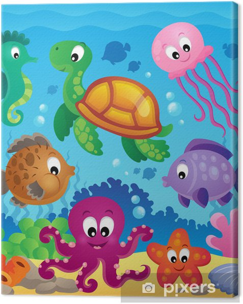 Image with undersea theme 7 Canvas Print - Themes