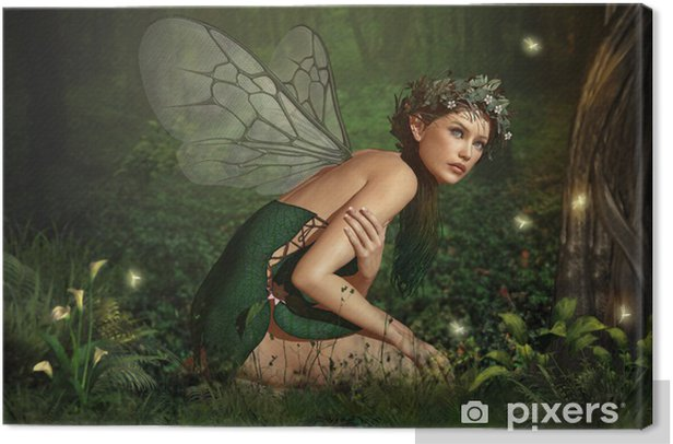 In the Fairy Forest Canvas Print - Esoteric