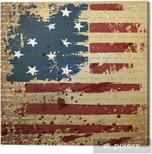Independence Day Background. Abstract, grunge, vector. Canvas Print - Styles