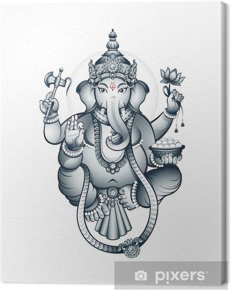 Indian elephant-head God Ganesha Canvas Print - Styles