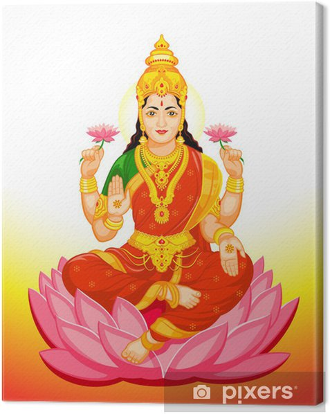 Indian Goddess Lakshmi Canvas Print -