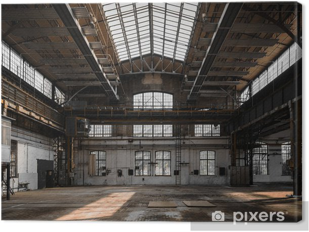 Industrial interior of an old factory Canvas Print - Heavy Industry