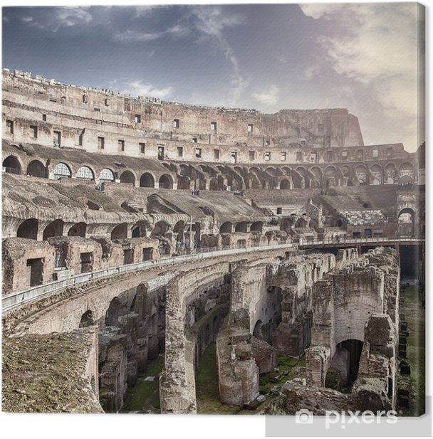 Inside Colosseum Canvas Print - Italy