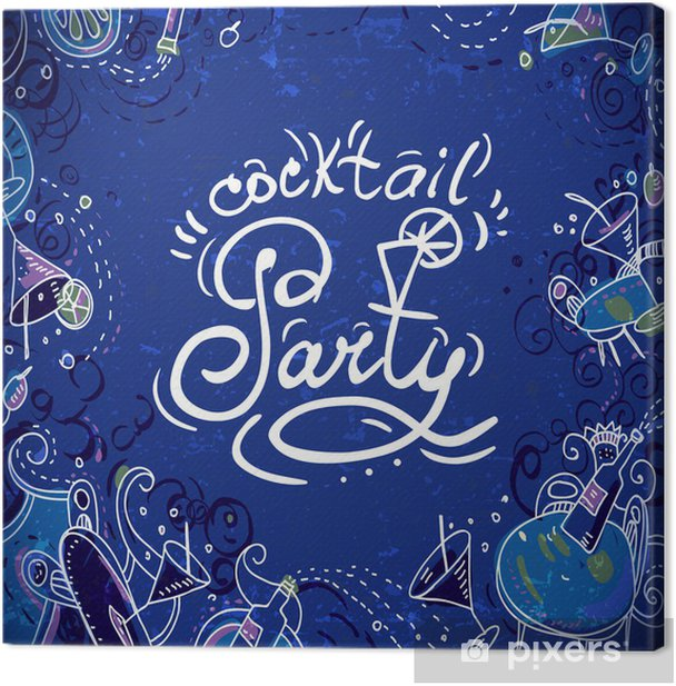 Invitation Card To Cocktail Party Canvas Print