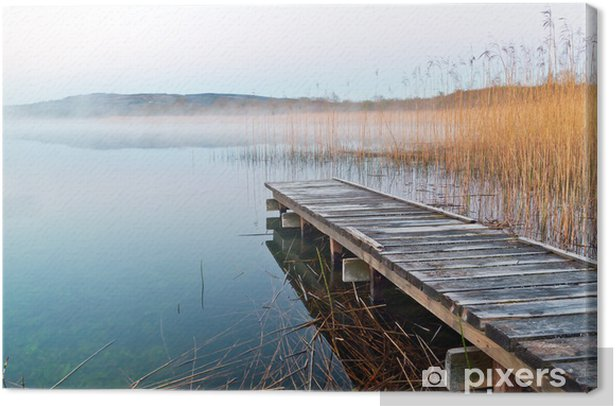 Irish lake before sunrise Canvas Print - Themes