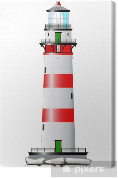 Isolated Lighthouse Canvas Print - Infrastructure