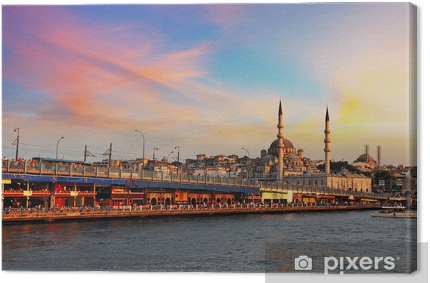 Istanbul at sunset, Turkey Canvas Print - Panorama