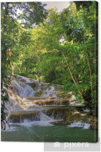 Jamaica - Dunn River Waterfalls (Landmark) Canvas Print - Themes