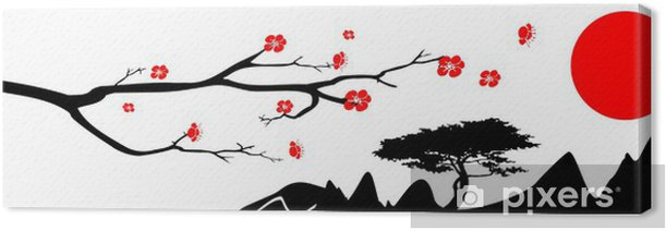 Japan background Canvas Print - Wall decals