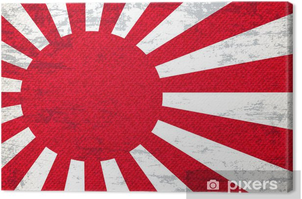 Japan Flag Art Background Canvas Print - Art and Creation