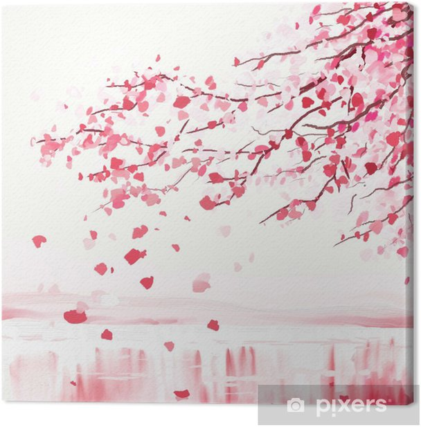 Japanese cherry tree Canvas Print - Styles