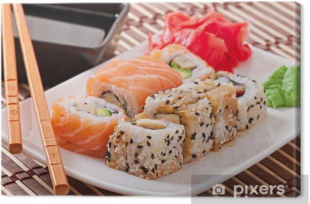 Japanese food - Sushi and Sashimi Canvas Print - Sushi