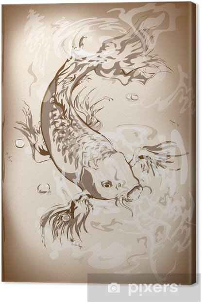japanese koi fish Canvas Print - Aquatic and Marine Life