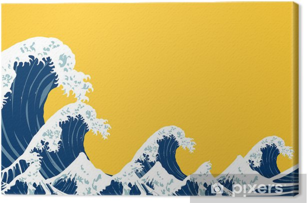 Japanese sea Canvas Print - Styles