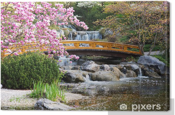 Japanischer Garten im Frühling Canvas Print - Themes