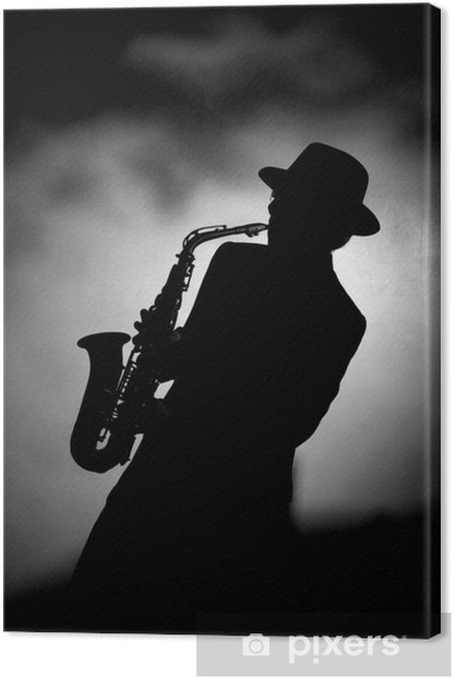 jazz sax Canvas Print - Jazz