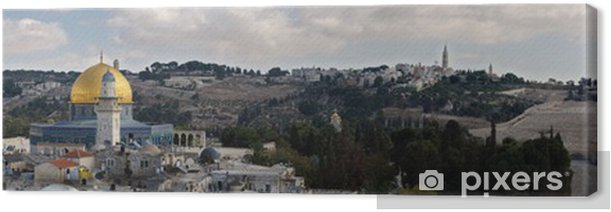 Jerusalem - A City of Three Religions.Panorama Canvas Print - The Middle East
