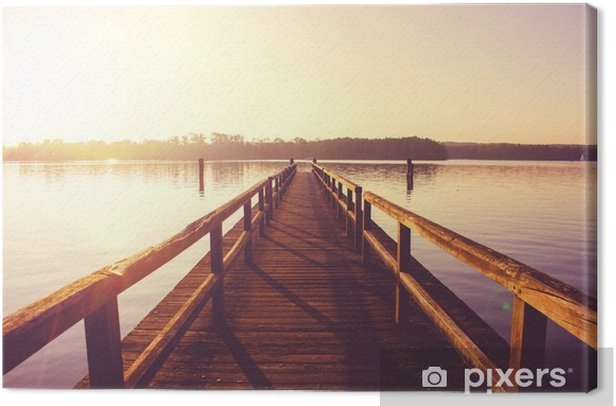 Jetty Canvas Print - Landscapes