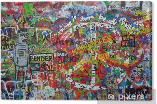 John Lennon wall in Prague Canvas Print - Themes