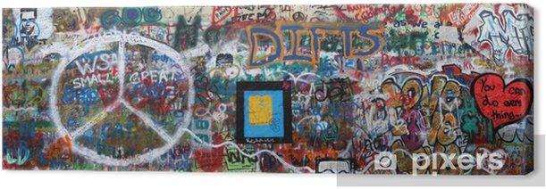 John Lennon Wand Prag Canvas Print - European Cities