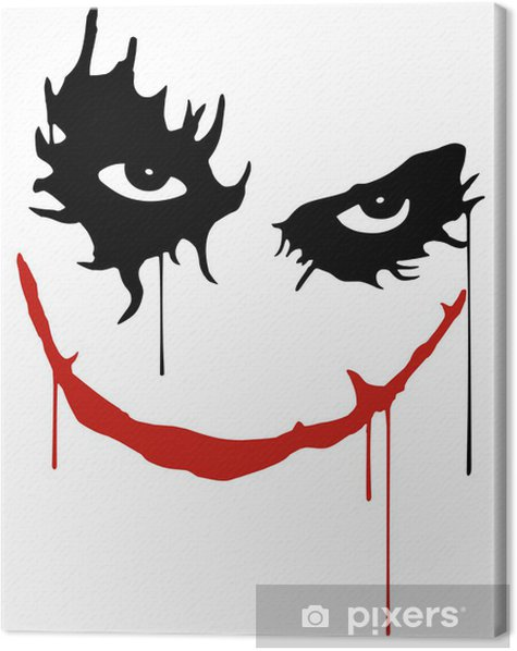 Joker smile Canvas Print -