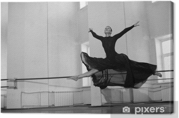 jump training ballerina Canvas Print - Themes