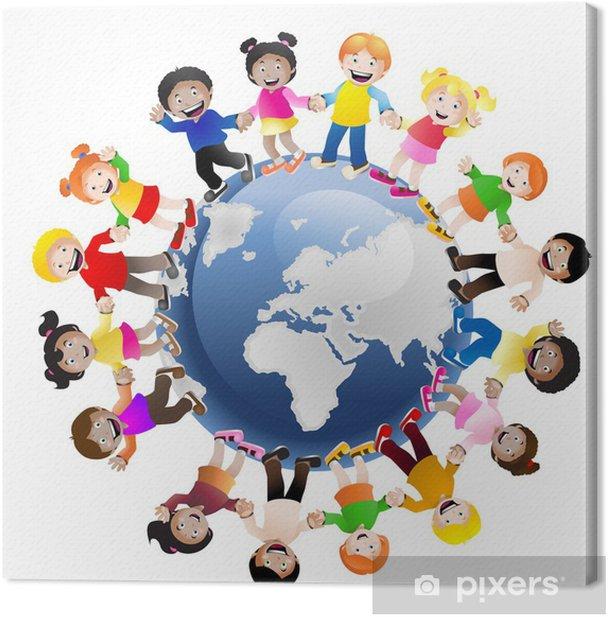kids around the World Canvas Print - Children
